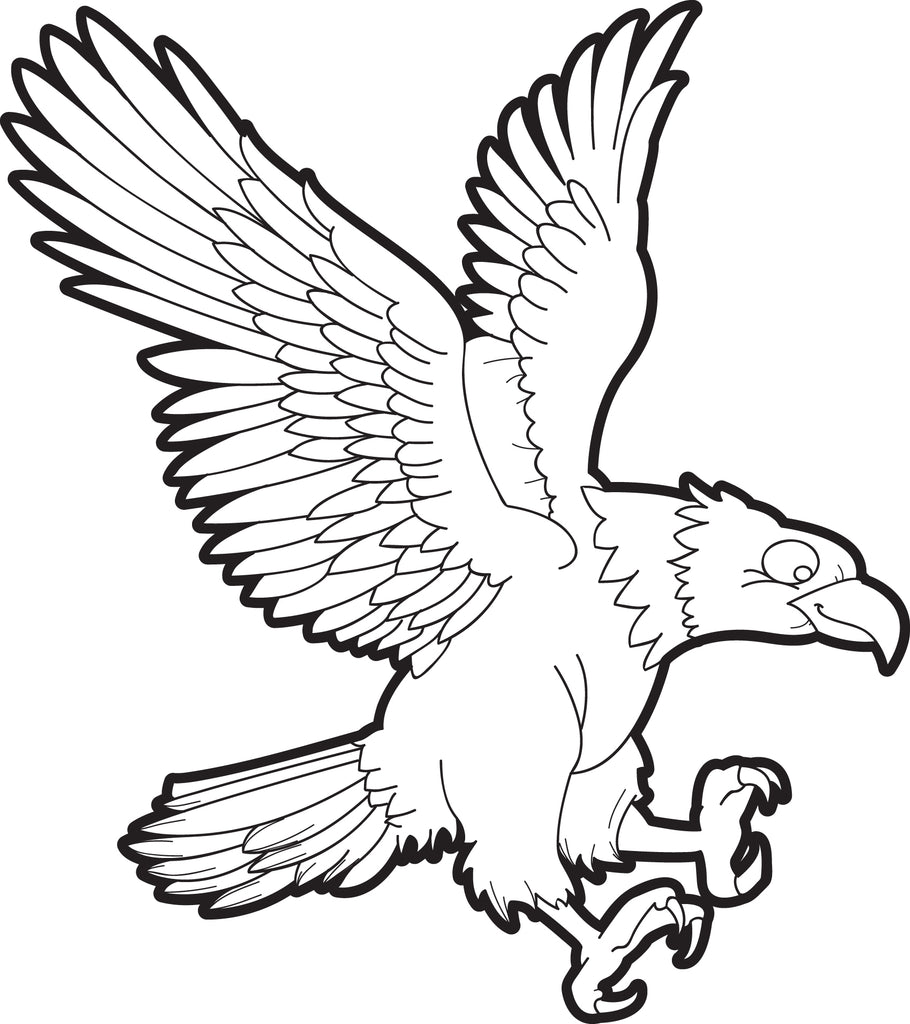 Free Printable Bald Eagle Coloring Page For Kids 1 Supplyme