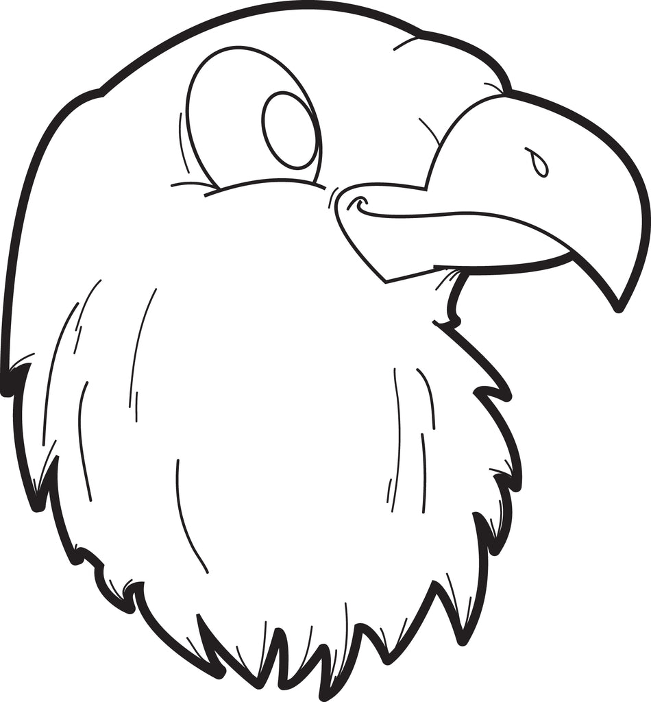 FREE Printable Bald Eagle Coloring Page for Kids #2