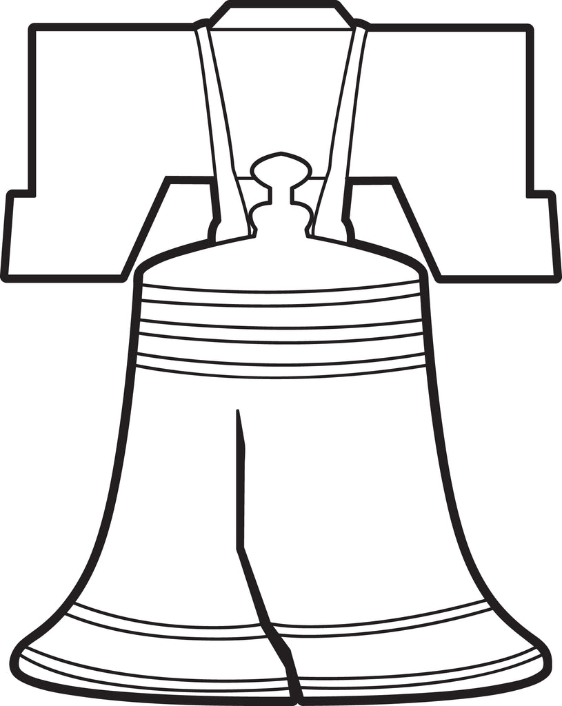 Printable Liberty Bell Coloring Page for Kids – SupplyMe