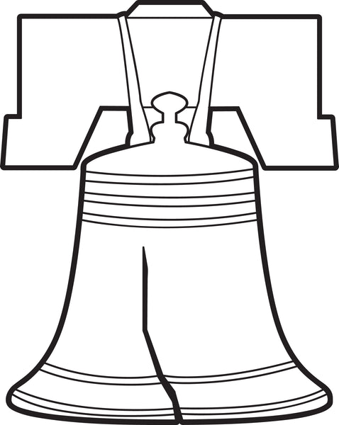 Free, Printable Liberty Bell Coloring Page for Kids