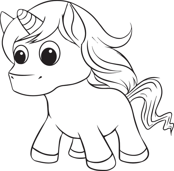 Free, Printable Unicorn Coloring Page for Kids #2