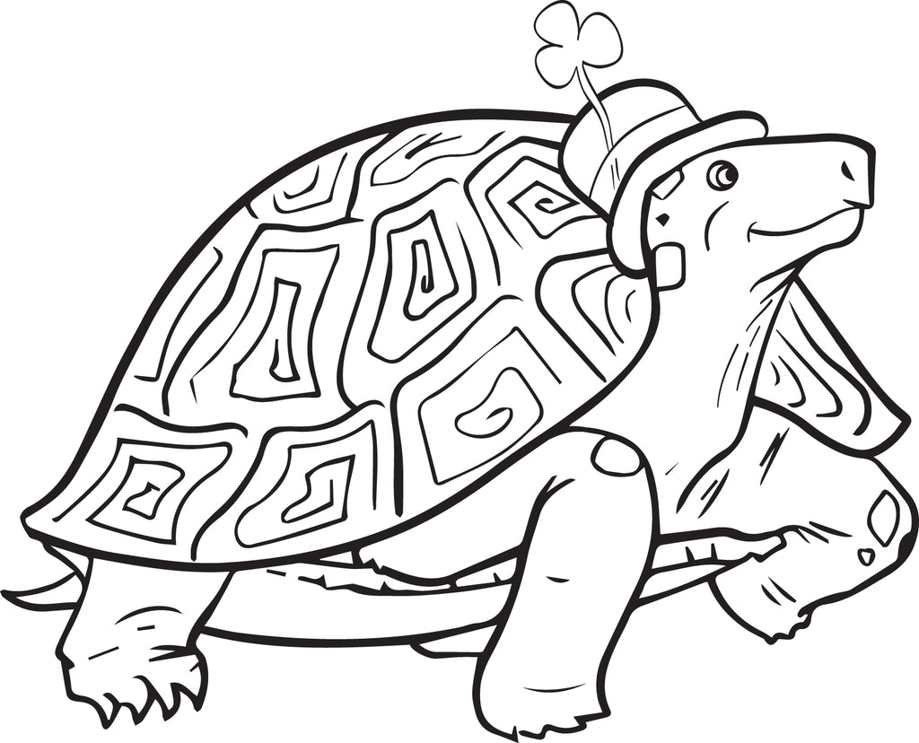 image about Printable St.patrick Day Coloring Pages called No cost Printable St. Patricks Working day Turtle Coloring Website page for