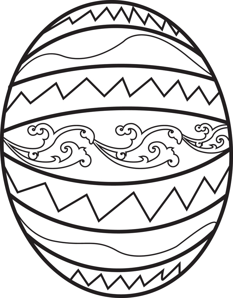 FREE Printable Easter Egg Coloring Page for Kids