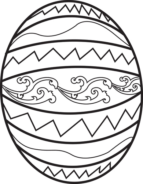 Printable Easter Egg Coloring Page for Kids - SupplyMe
