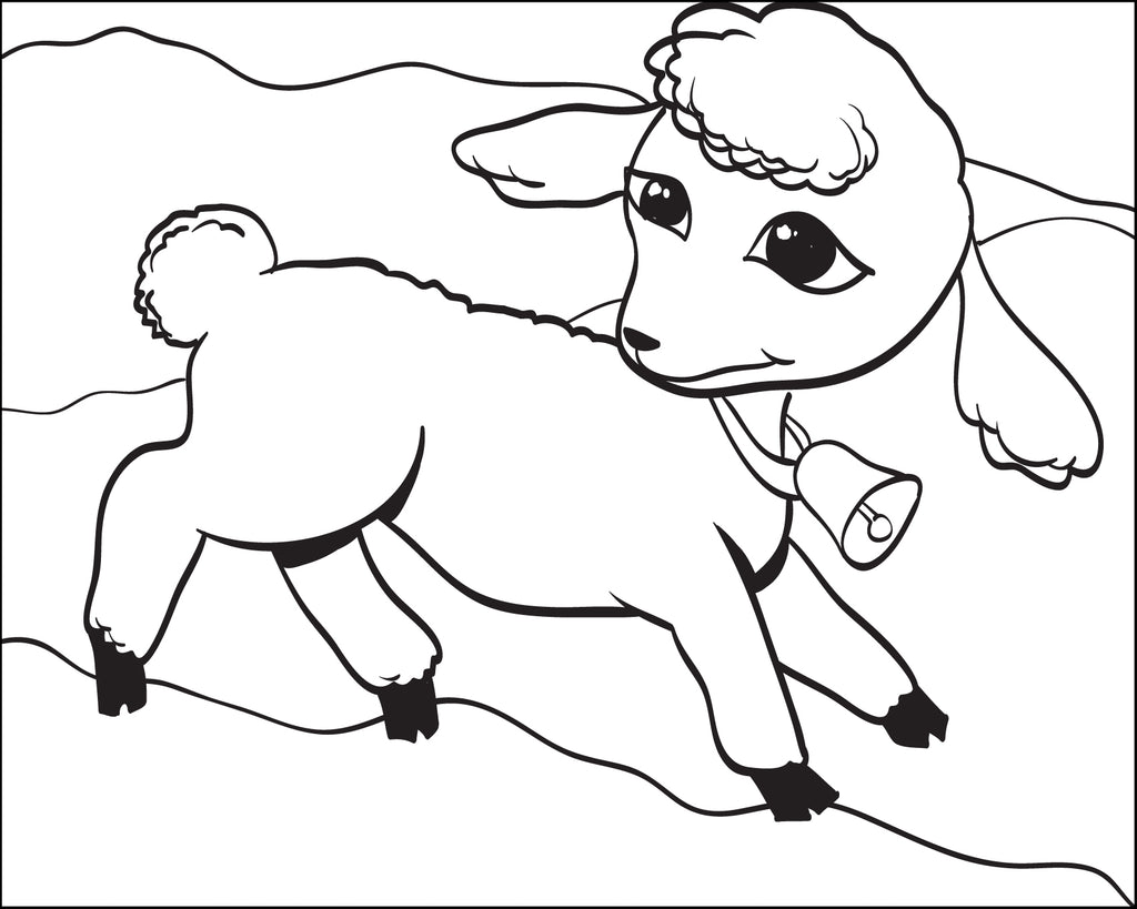 Free printable lamb coloring page for kids supplyme