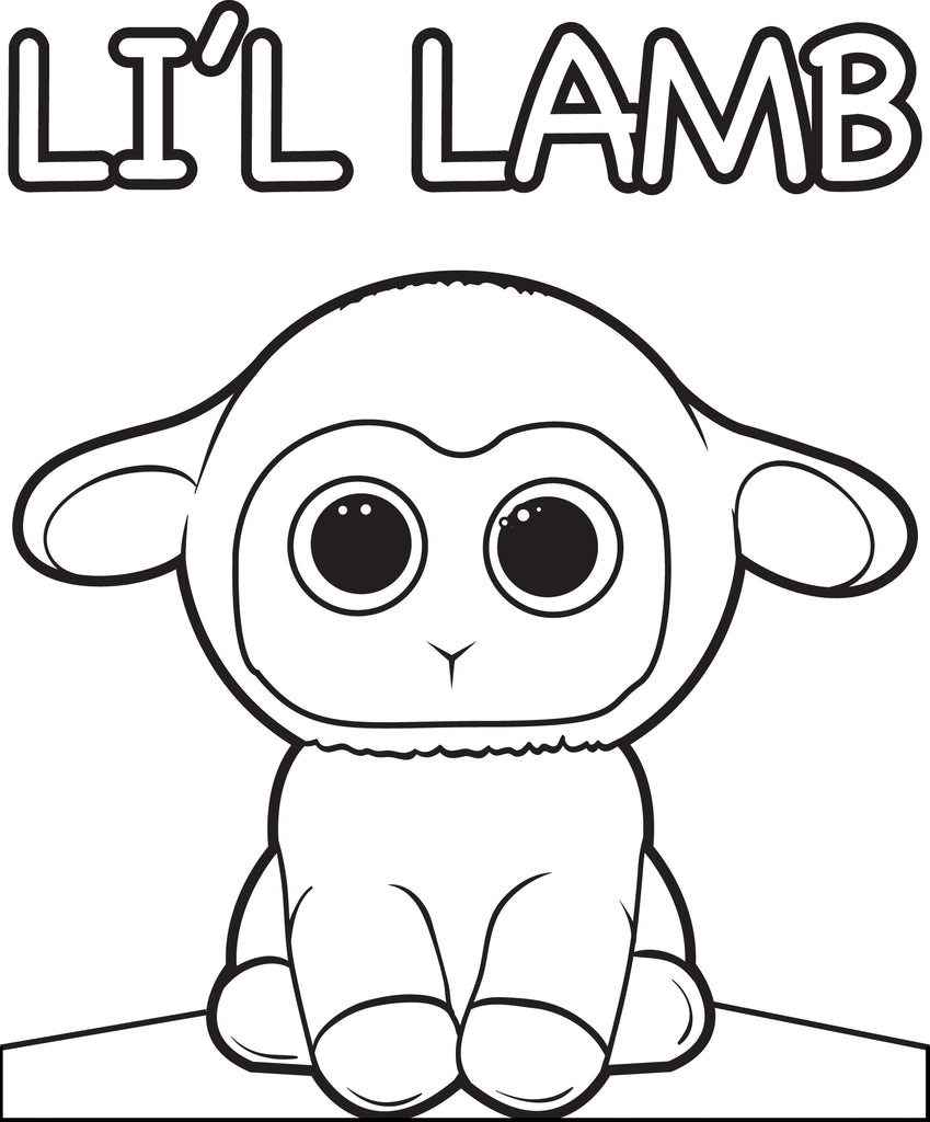 Free, Printable Cartoon Lamb Coloring Page for Kids – SupplyMe
