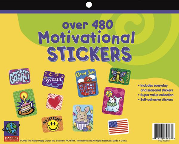 Jumbo Sticker Books 480 Count Motivational