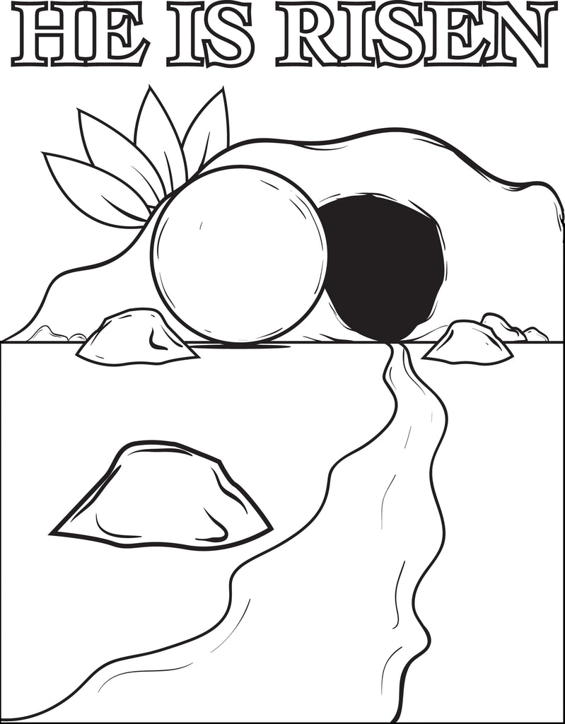 - The Resurrection Of Jesus Christ Printable Coloring Page For Kids