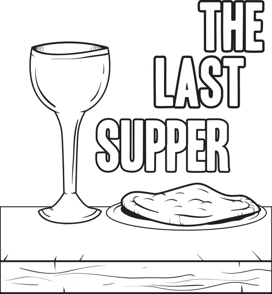 free printable the last supper coloring page for kids