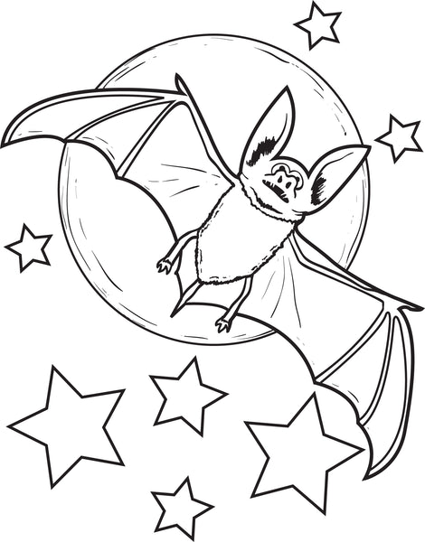 FREE Printable Bat Coloring Page for Kids #2