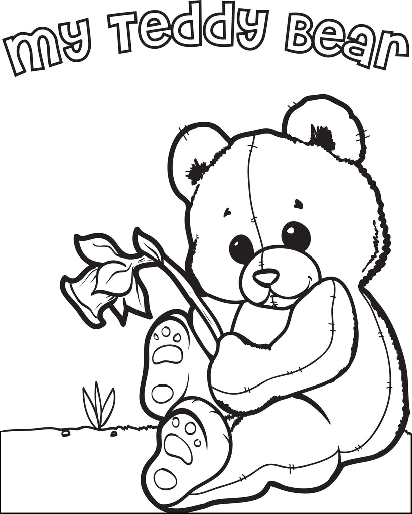 Free, Printable Teddy Bear Coloring Page for Kids – SupplyMe