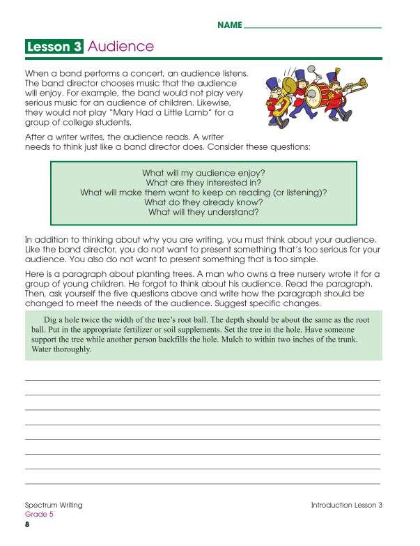 Spectrum Writing Workbook, Grade 5