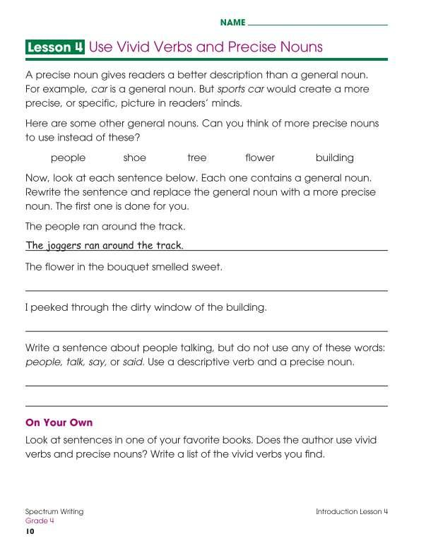 Spectrum Writing Workbook, Grade 4