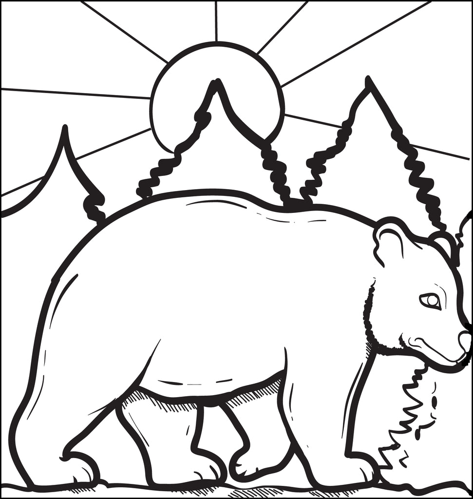 FREE Printable Bear Coloring Page for Kids - SupplyMe