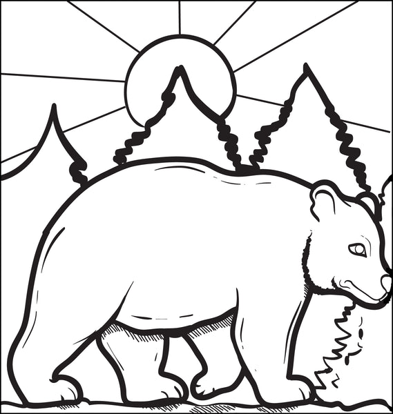 FREE Printable Bear Coloring Page for Kids