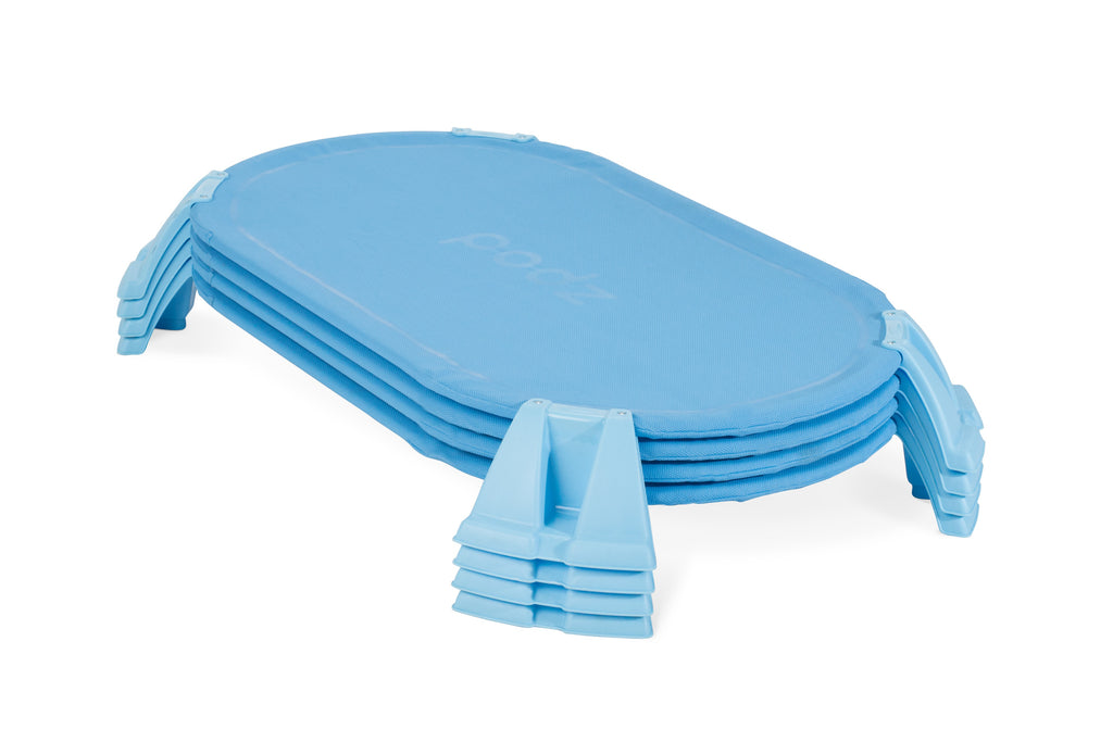 PODZ™ Toddler Cot, Blue (4 Pack)