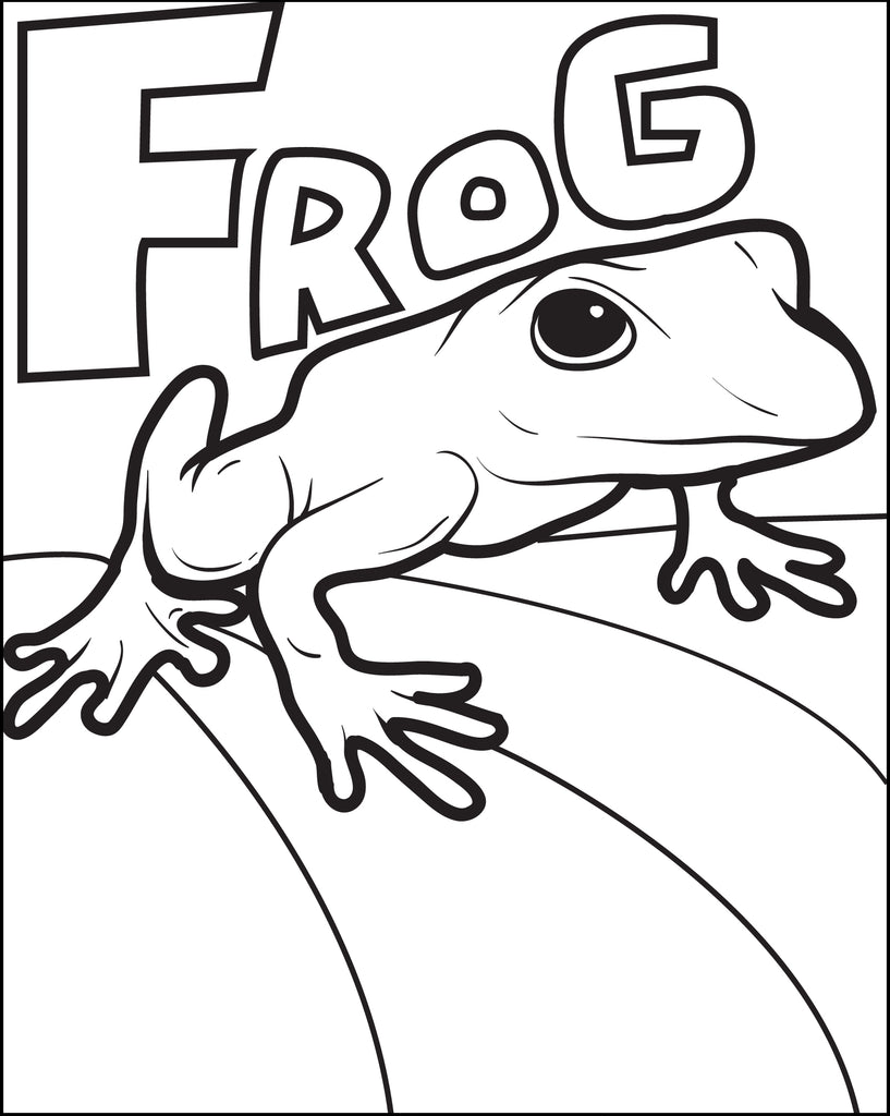 Frog Coloring Page #5