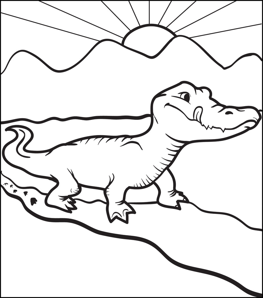 Alligator Coloring Page #1