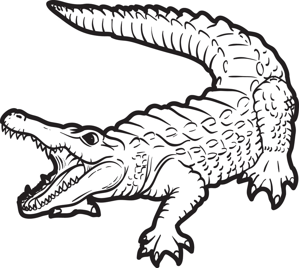 FREE Printable Alligator Coloring Page for Kids #2