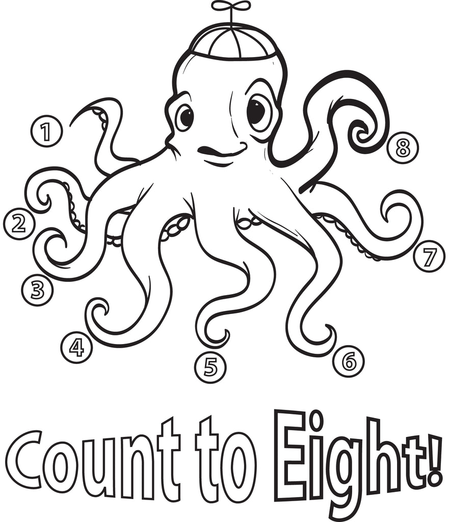 29 Fish and Octopus Coloring Pages for Kids Free Printables ... | 1024x881