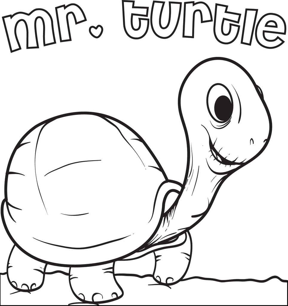 Mr. Turtle Coloring Page