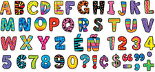 Poppin' Patterns Multi-Designs Upper Case Letters Stickers