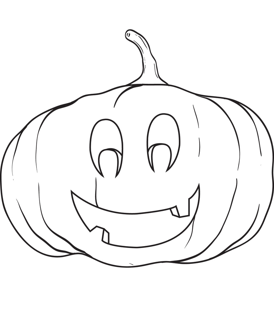 FREE Printable Pumpkin Coloring Page for Kids #7 – SupplyMe