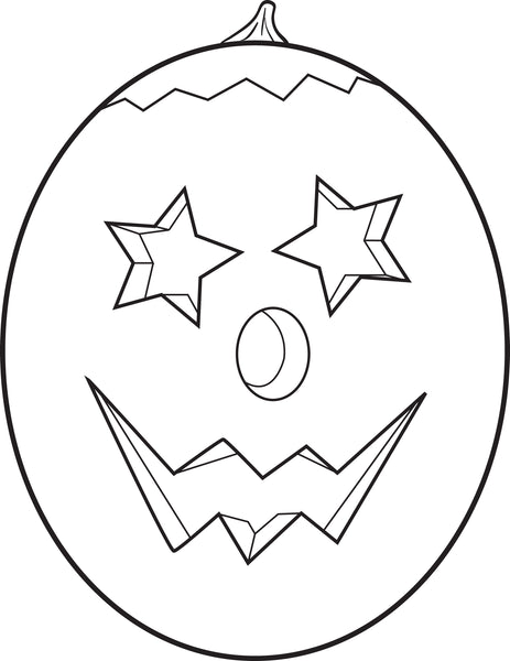 FREE Printable Pumpkin Coloring Page for Kids #8
