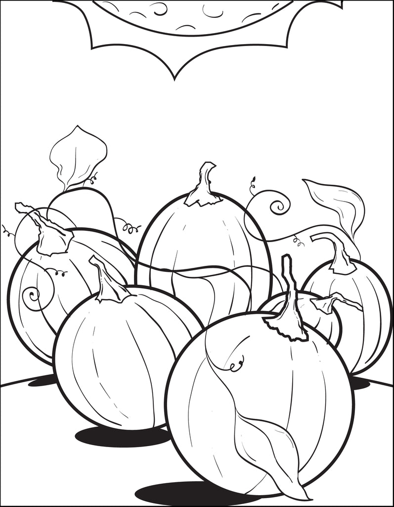 FREE Printable Pumpkin Patch Coloring Page for Kids #2 – SupplyMe