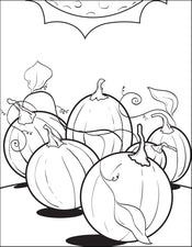 FREE Printable Pumpkin Patch Coloring Page for Kids