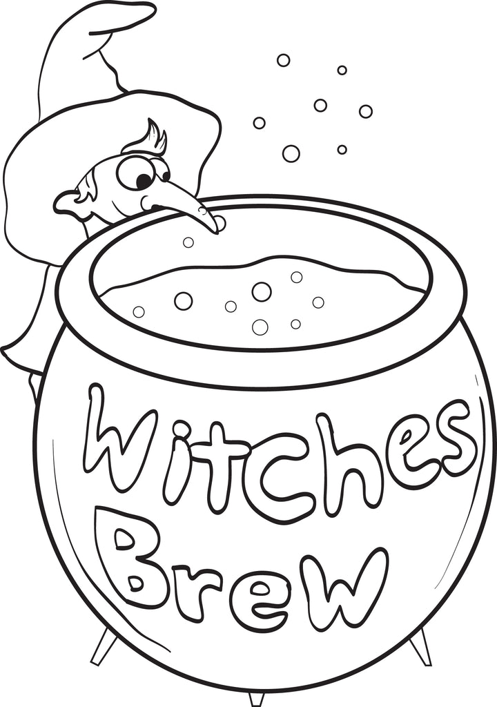 Witch Coloring Page #6