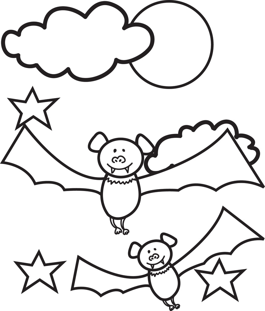 FREE Printable Halloween Bats Coloring Page for Kids #1 ...