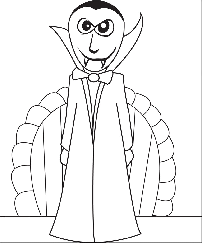 Printable Vampire Coloring Page For Kids 2 Supplyme