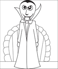 Vampire Coloring Page #2