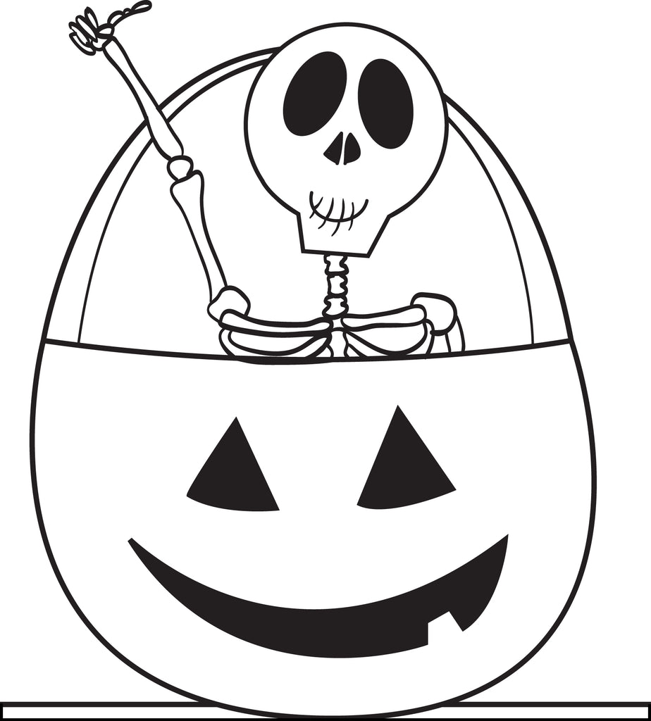 - Printable Halloween Skeleton Coloring Page For Kids #3 – SupplyMe