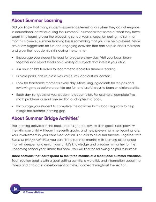 Summer Bridge Activities® Workbook, Grades 6-7