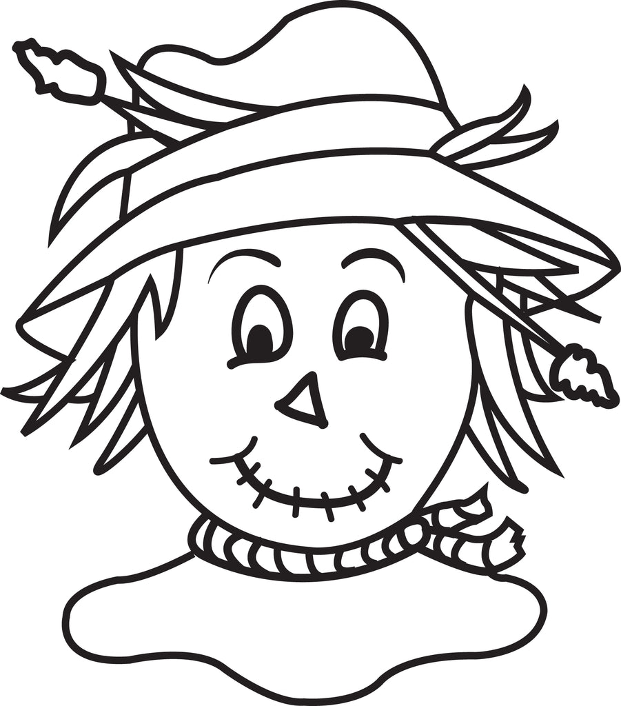 Printable Scarecrow Coloring Page for Kids #4 - SupplyMe