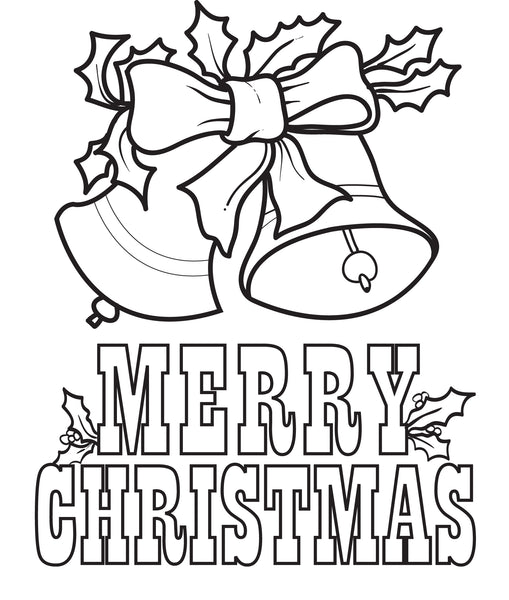 FREE Printable Christmas Bells Coloring Page for Kids #5