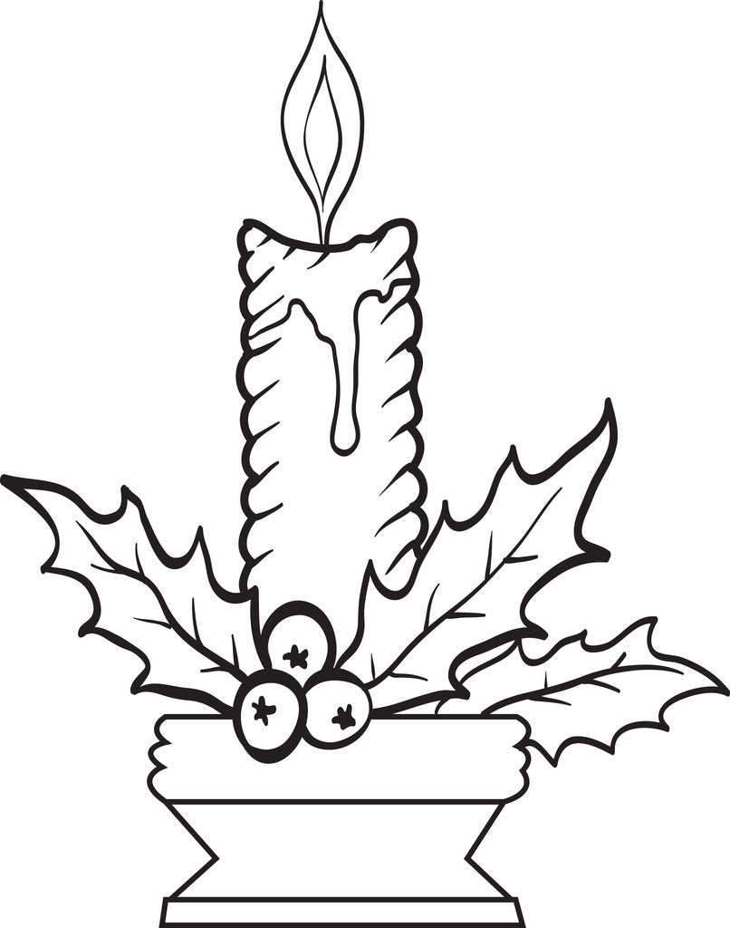 ornament coloring pages candle stick - photo#14