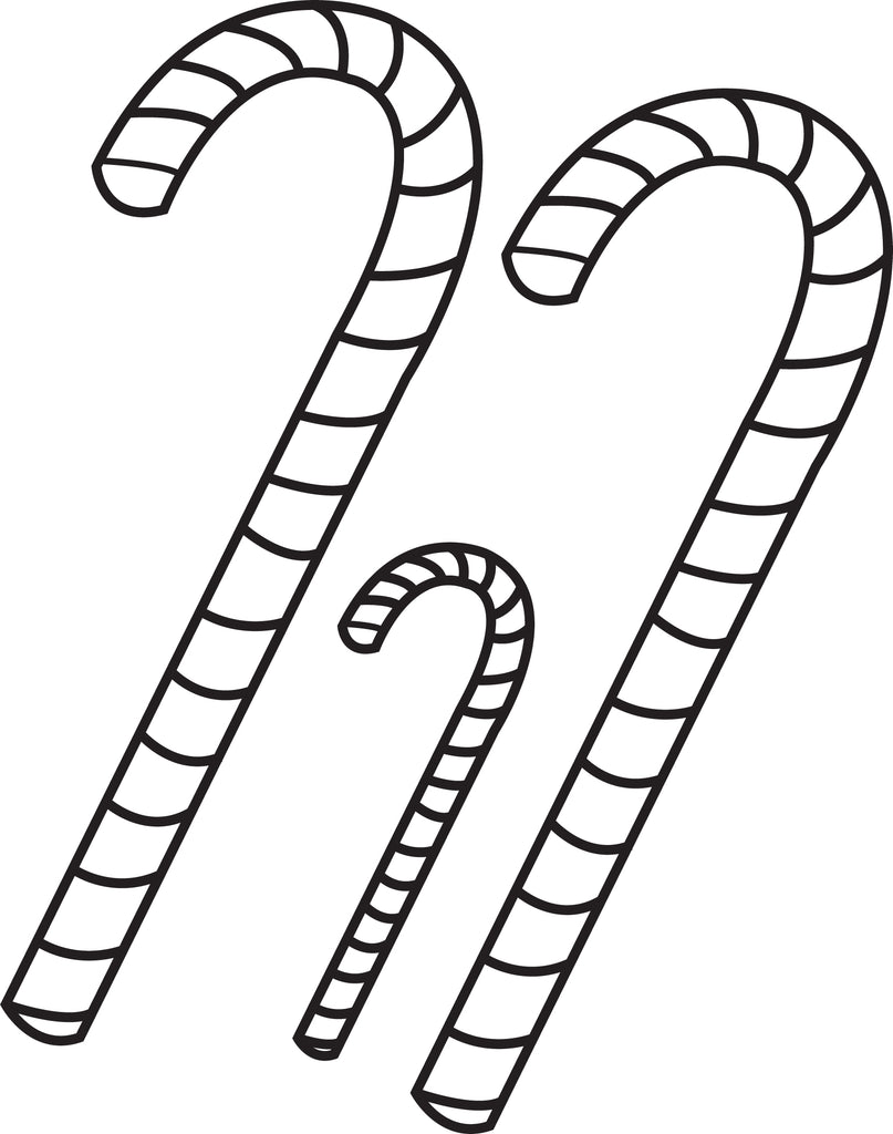 FREE Printable Candy Canes Coloring Page for Kids #3 – SupplyMe
