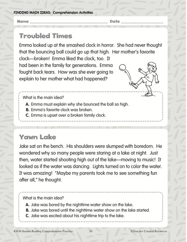 Teacher Created Resources Instant Reading Prehension