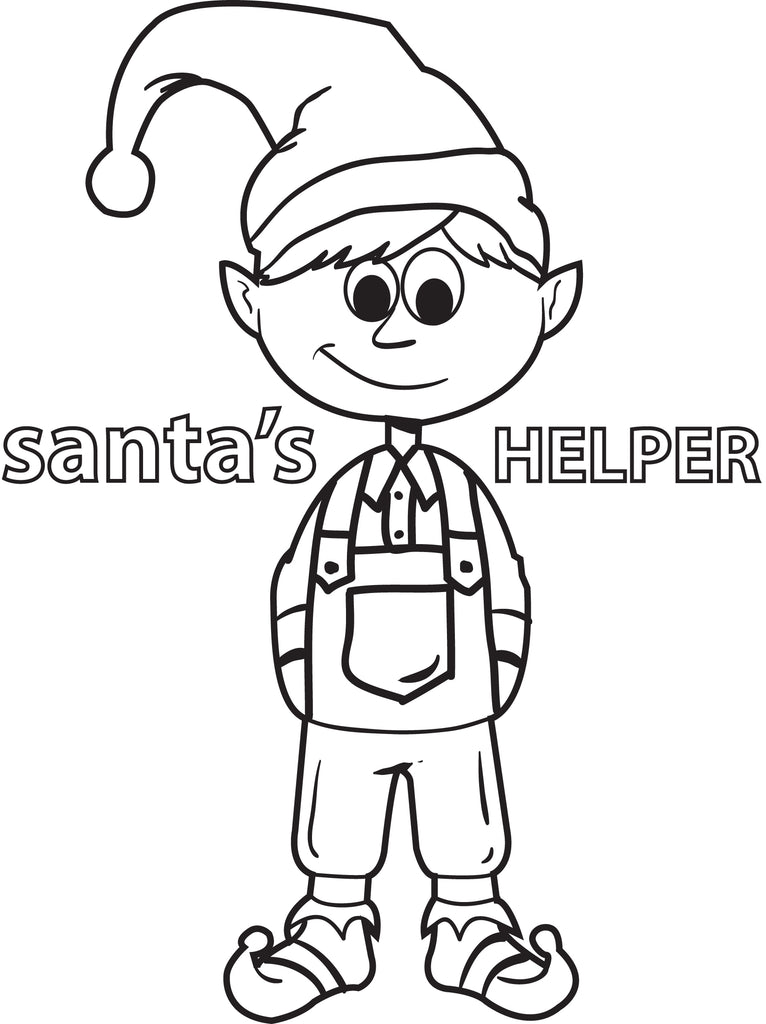 Printable Elf Coloring Page For Kids #5 – SupplyMe