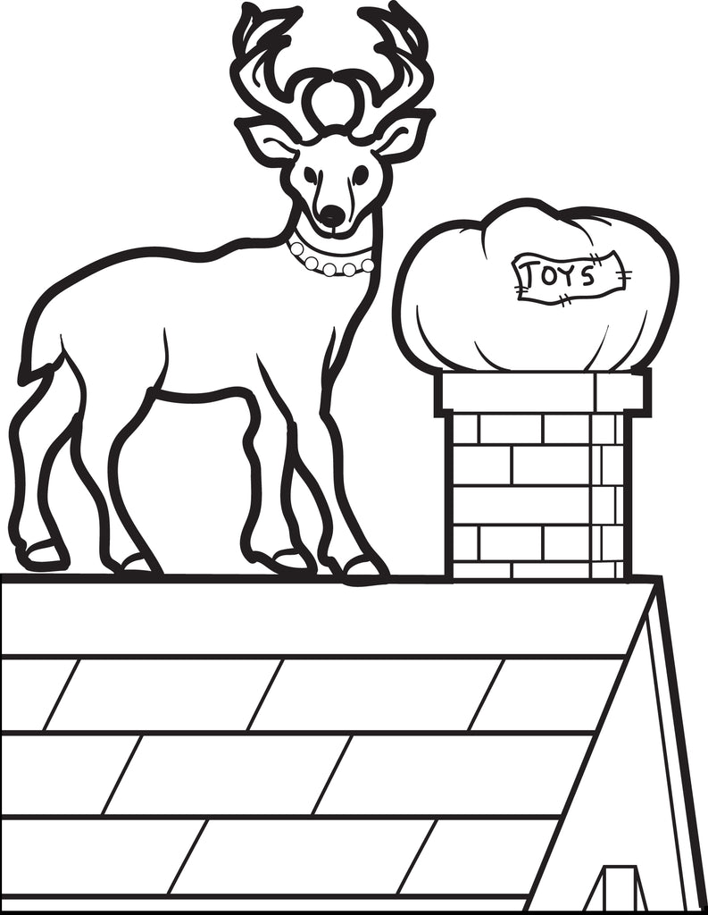 - Printable Reindeer Coloring Page For Kids #4 – SupplyMe
