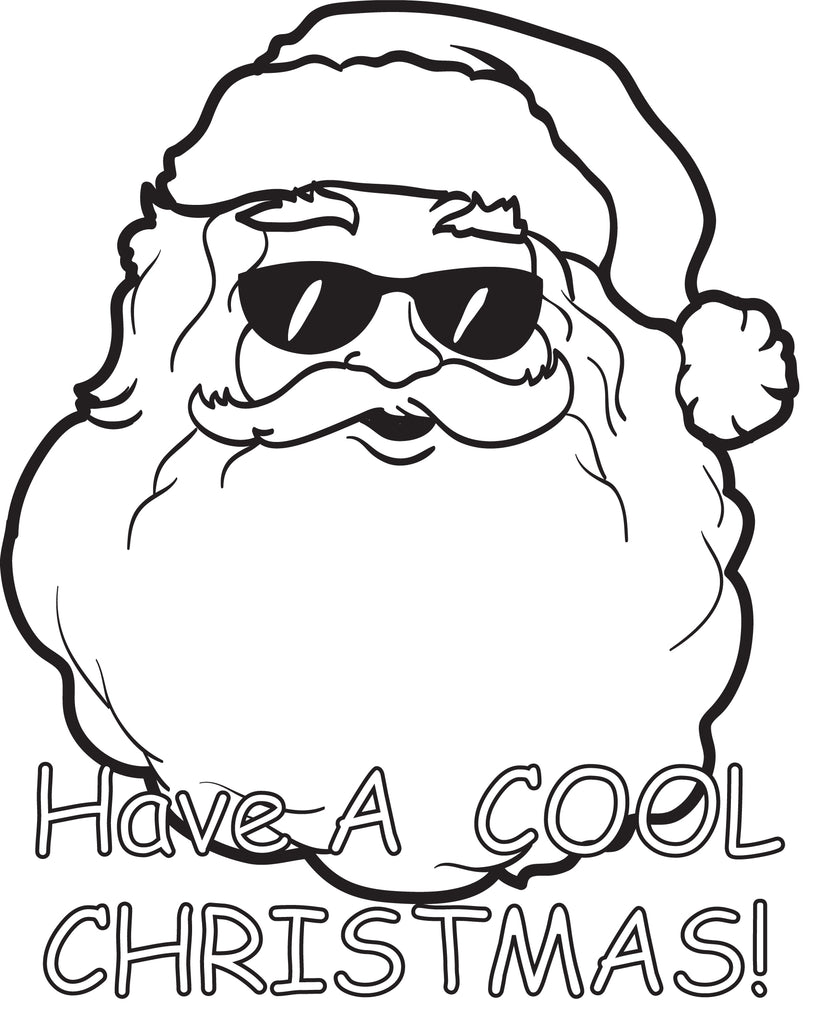 free printable cool santa claus coloring page for kids - Printable Santa Claus Pictures