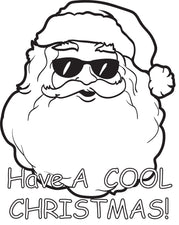 FREE Printable Cool Santa Claus Coloring Page for Kids