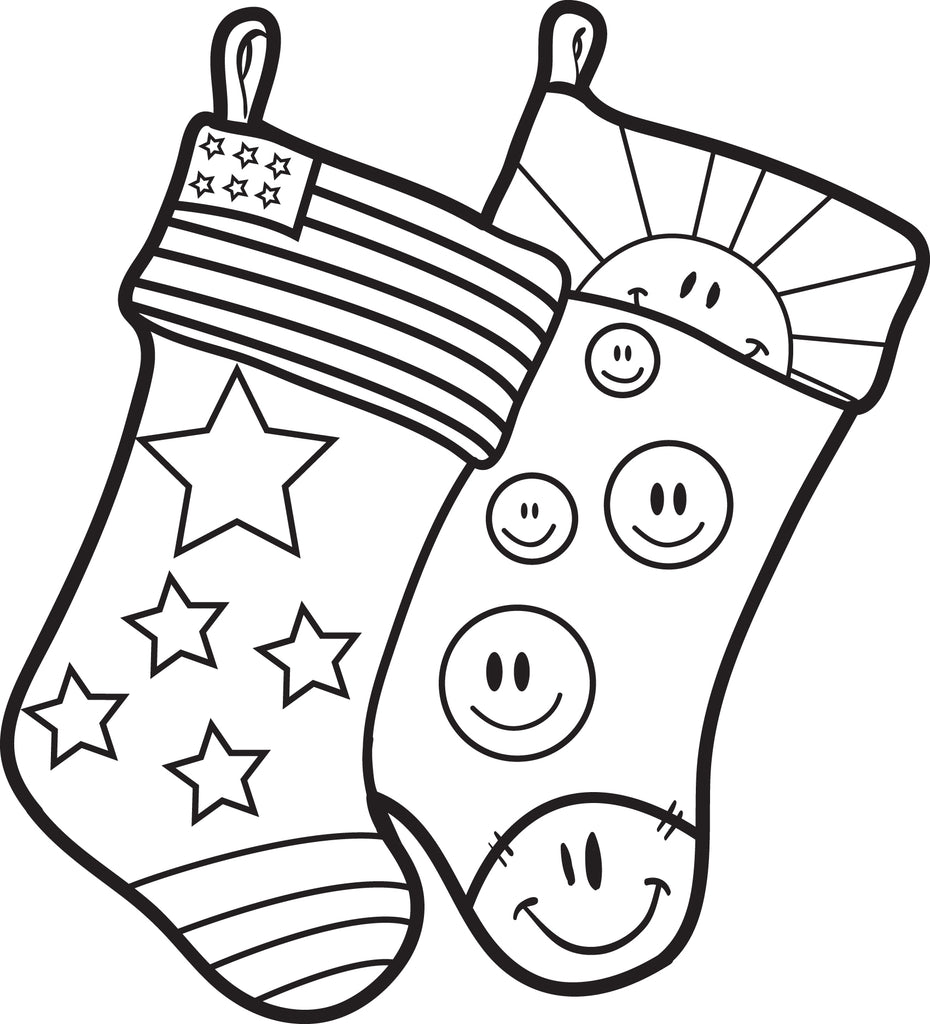FREE Printable Christmas Stockings Coloring Page for Kids ...