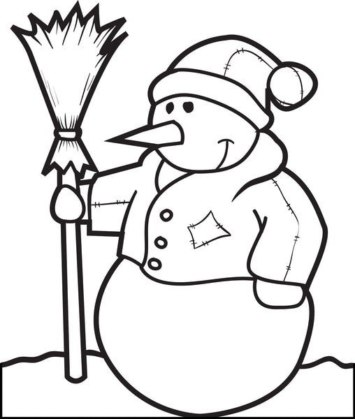 FREE Printable Snowman Coloring Page for Kids #5