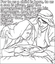 FREE Printable Mary, Joseph, & Baby Jesus Christmas Coloring Page for Kids