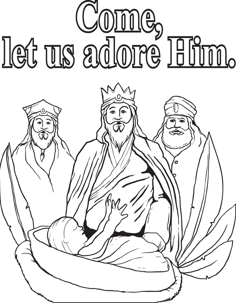 FREE Printable Three Wise Men Coloring