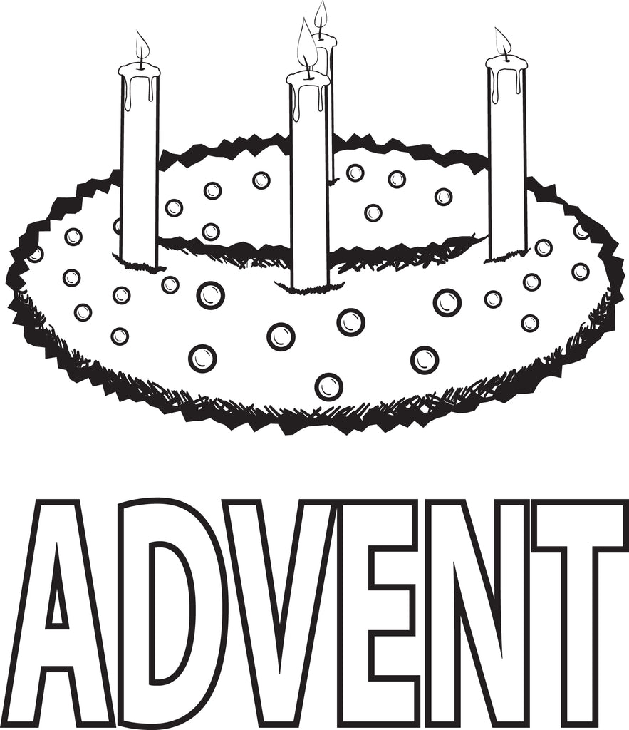 Free printable advent wreath coloring page for kids supplyme for Printable advent coloring pages